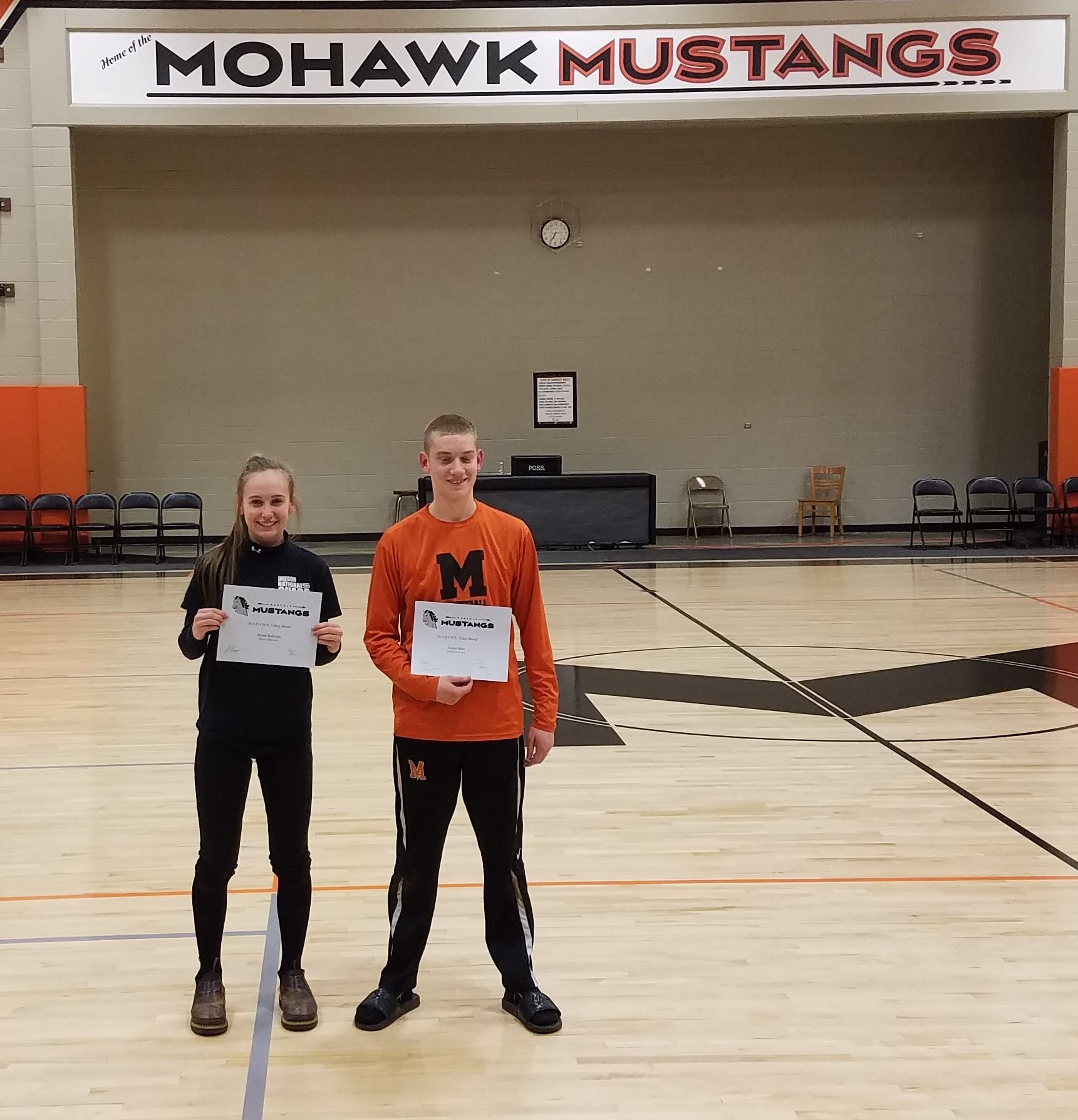 Students Win Mohawk Athletics Values Award