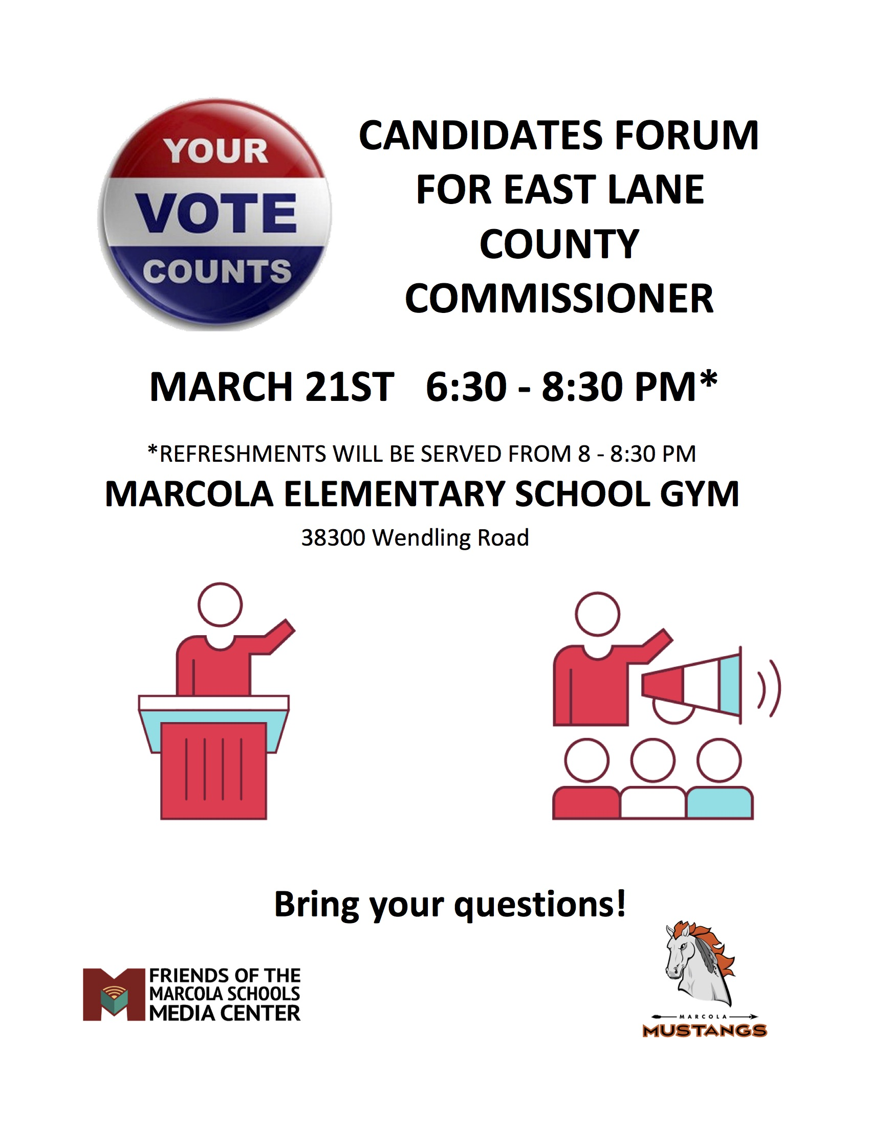 Candidates Forum For East Lane County Commissioner